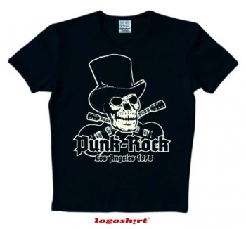 Punk Rock LA 1978 T-Shirt Slim Fit Black