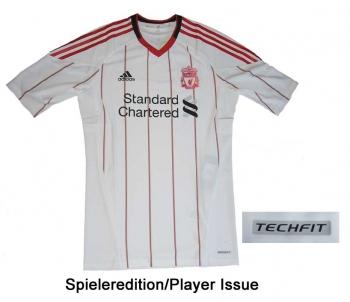 FC Liverpool Trikot 10/11 Away Adidas Player Issue TechFit