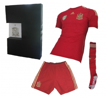 Spanien Trikot Set 2014 adiZero Limitierte Geschenkbox Spieleredition Style Adidas