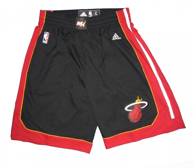 adidas Miami Heat Basketball Hose Shorts NBA Swingman