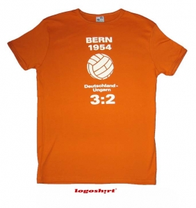 WM Finale Bern 1954 T-Shirt Slim Fit Orange