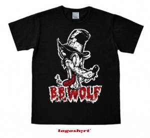 B.B. Wolf Disney T-Shirt Easy Fit Schwarz