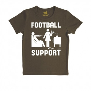 Football Support T-Shirt Brown
