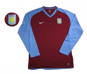 Aston Villa Trikot Home 08/09 Nike Spieleredition Longsleeve OS