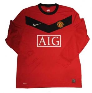 Manchester United Trikot 09/10 Home Longsleeve Nike