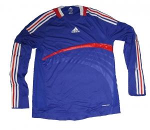Frankreich Trikot Home Adidas 07/09 Formotion Longsleeve