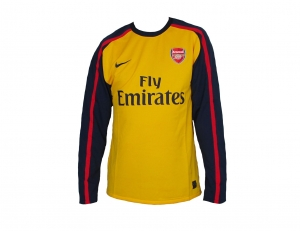 Arsenal London Shirt Away EPL Nike 08/09 Player Issue LS