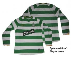 Celtic Glasgow Trikot Home 08/10 Nike Player Issue Longsleeve
