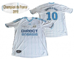 Olympique Marseille Trikot Home Adidas 09/10 Champion Edition