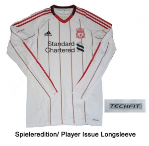 FC Liverpool Trikot 10/11 Away Adidas Player Issue TechFit LS