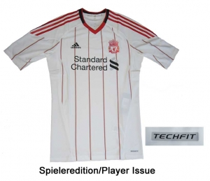 FC Liverpool Trikot 10/11 Away Adidas Player Issue TechFit