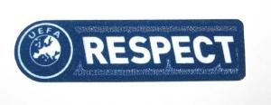 UEFA Respect Logo Flock 2011/12 Blau