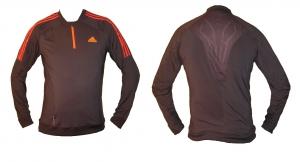 Adidas Laufshirt Longsleeve mit Zip ReAction/AdiZero