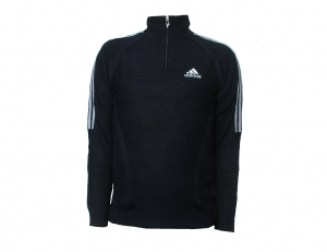 Adidas Pullover Jumper Black 1/4 Zip
