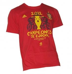 Spanien T-Shirt Europameister 2012 Adidas