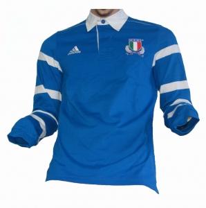 Italien Italia F.I.R. Rugby Trikot Adidas Replica Longsleeve 201