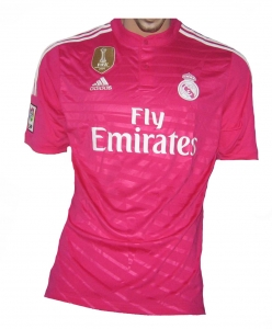 Real Madrid Trikot 2014/15 Away Adidas Pink + FIFA World Champions 2014 Patch