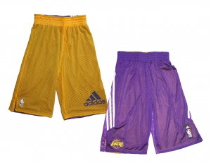 Adidas NBA Basketball Shorts Los Angeles Lakers Adidas Wendehose