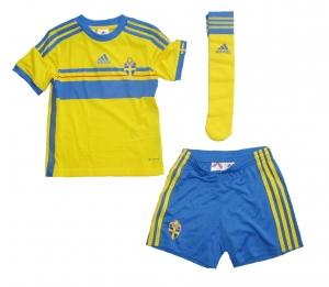 Schweden Minikit Trikot Set Kindergröße 2013/14 Home Adidas