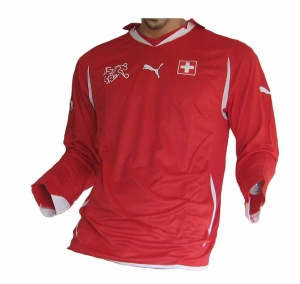 Schweiz Trikot Home 2010/12 Puma Spieleredition Longsleeve