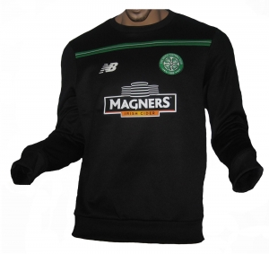 Celtic Glasgow Trainings Sweatshirt Black New Balance