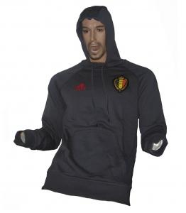 Belgien KBVB Trainingssweatshirt Hoodie Adidas 2016/17 Anthrazit