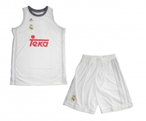 Real Madrid Basketball Kinder Trikot Set Minikit 2015/16 Adidas