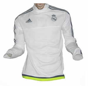 Real Madrid Trainingstop Sweatshirt White 2015/16 Adidas
