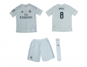 Real Madrid Minikit Trikot Set Kindergröße Home Adidas 2015/16 Kroos 8