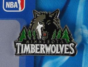 Minnesota Timberwolves NBA Anstecker/Pin