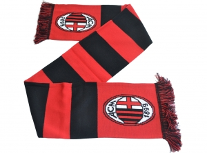 AC Mailand Fanschal Jacquard Balken