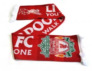 Liverpool FC Jacquard Schal Youll Never Walk Alone