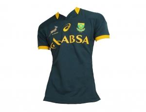 Südafrika Rugby Trikot Asics Springboks Match Jersey Tight 2014/15