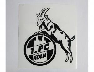 1. FC Köln Aufkleber Schwarz