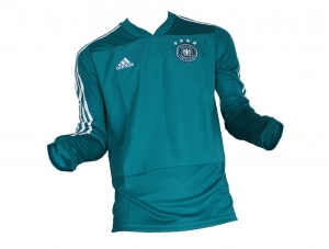 Deutschland DFB Trainingstop Sweatshirt 2017/18 Türkis Adidas Gr. M