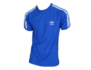 Adidas Originals 3-Stripes T-Shirt Trefoil Adidas Bluebird/White