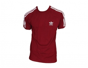 Adidas Originals 3-Stripes T-Shirt Trefoil Adidas Burgundy/White