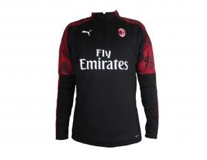 AC Mailand Fleece Trainingstop Sweatshirt 2019/20 Puma Black/Tango Red