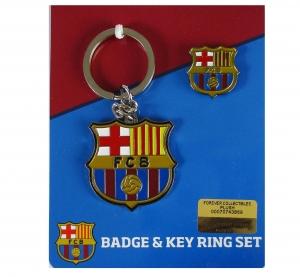 FC Barcelona Schlüsselanhänger und Anstecker Set