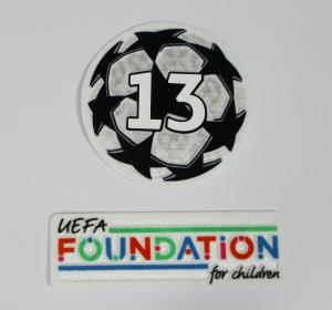 UEFA Champions League Logo Flock Foundation Set Badge of Honour 13 2021-22