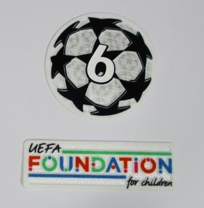 UEFA Champions League Logo Flock Foundation Badge of Honour 6 Set 2021-22