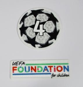 UEFA Champions League Logo Flock Foundation Badge of Honour 4 Set 2021-22 4