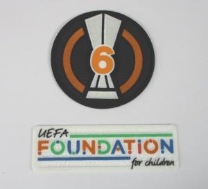 UEFA Europa League Logo Foundation Flock Badge of Honour 6 2021-22